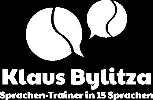 Klaus Bylitza Sprachen-Trainer Logo in weiß